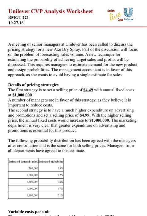unilever strategy analysis