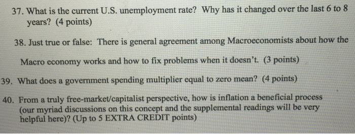 Solved What Is The Current Us Unemployment Rate Why Ha