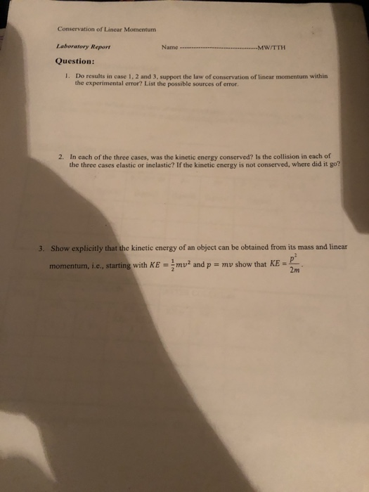 law of conservation of mass lab report