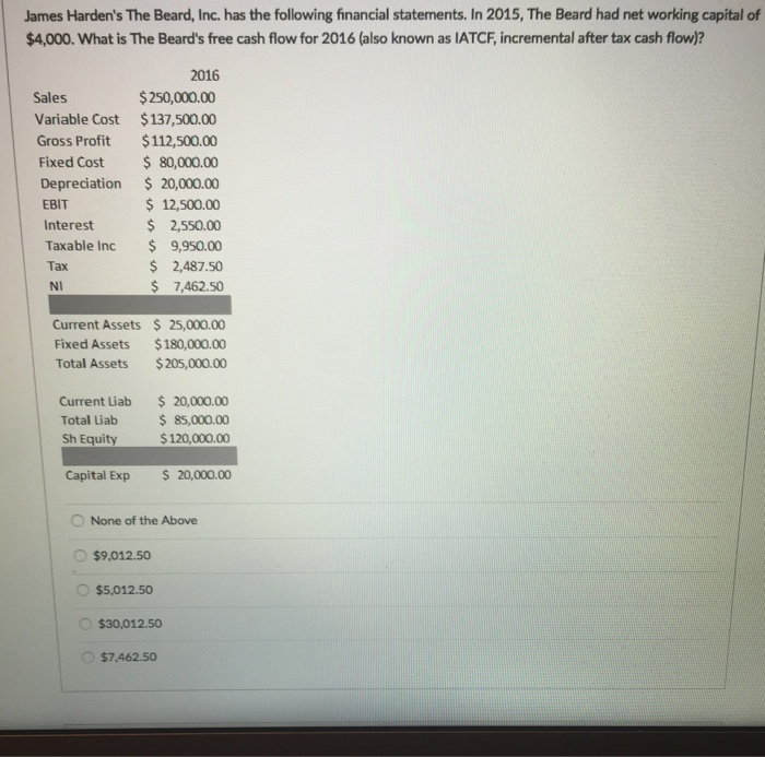 how to calculate change in gross fixed assets for fcf