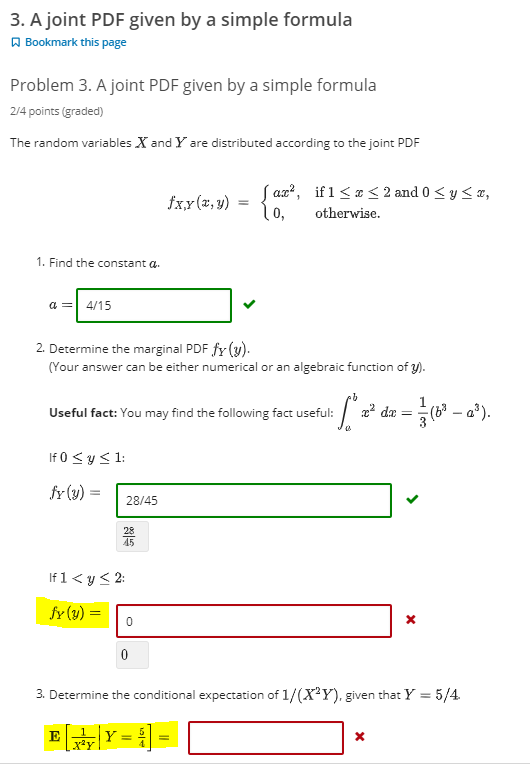 Solved: 3  A Joint PDF Given By A Simple Formula A Bookmar