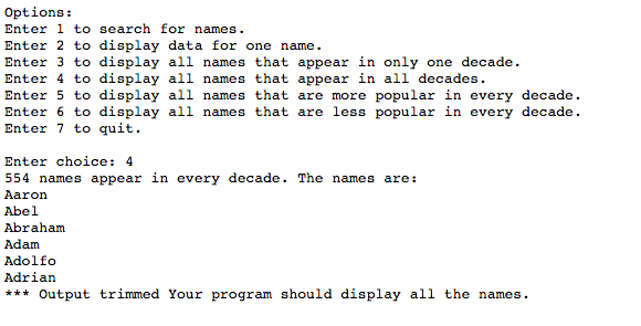 Solved: 4  Write A Function That Returns A List Of Names T