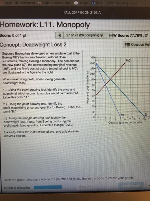 Solved Fall 2017 Econ 2106 A Homework L11 Monopoly Scor