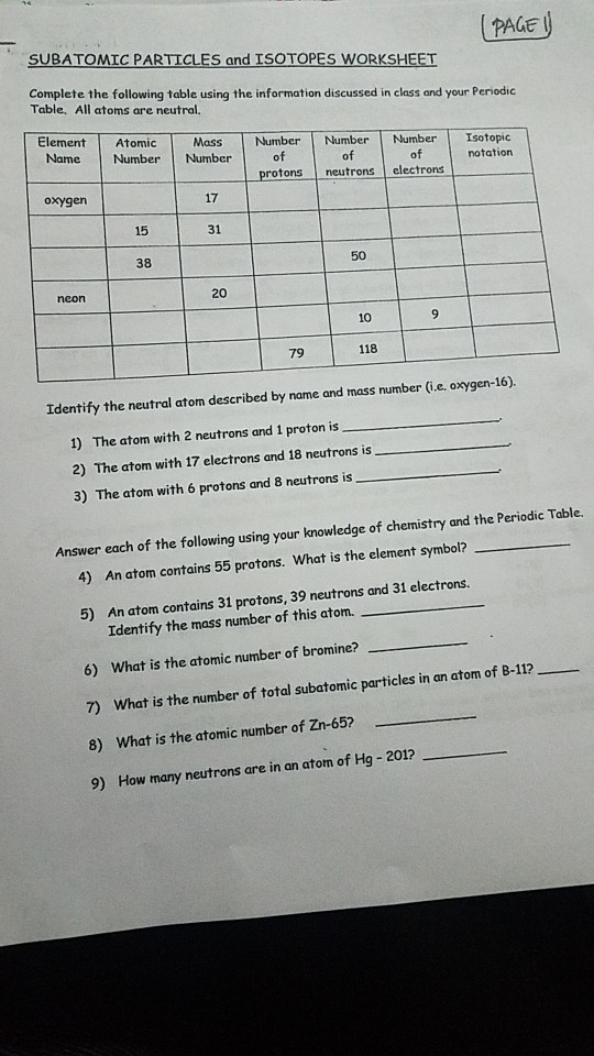 Solved  Atomic Structure And Chemical Nomenclature Workshe moreover Isotopes Worksheet Answers   holidayfu further Quiz   Worksheet   Isotopes and Average Atomic M   Study as well Solved  PAGE C PARTICLES And ISOTOPES WORKSHEET Table  All as well  besides Atoms Ions and isotopes Worksheet Answers Elegant ly isotopes likewise Subatomic Particles for Atoms  Ions and Isotopes   PDF Drive also Protons neutrons and electrons homework answer key also  further Atomic M Lesson Plans   Worksheets   Lesson Pla together with Isotopes Ions and atoms Worksheet Answers New isotope Practice besides Isotopes And Average Atomic M Worksheet Answers likewise Shedding Light on Atoms Episode 5  Protons  Neutrons  and Electrons furthermore Atoms Ions And Isotopes Worksheet Answers Geometry Worksheets Clock moreover Isotope And Ions Worksheet Answers also . on atoms and isotopes worksheet answers