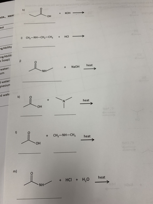 Solved: Worksheet: Organic Reactions For Each Of The Follo ...