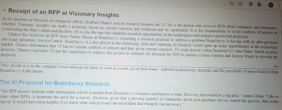 Solved: > Receipt Of An RFP At Visionary Insights In His P