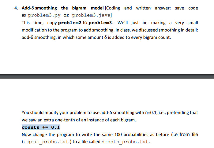 For This Assignment, We Will Develop N-gram Models