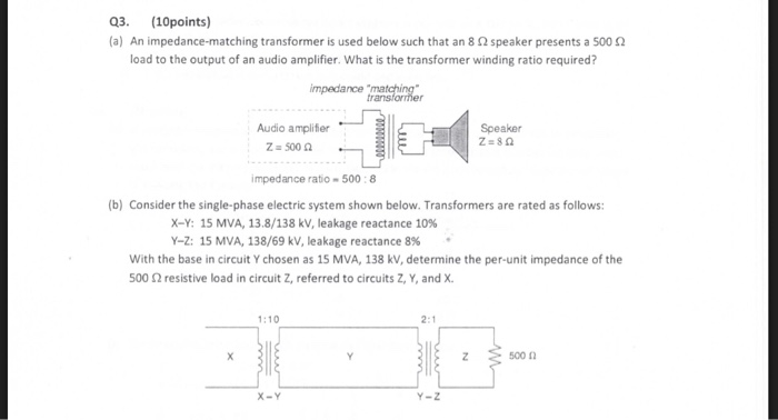 Solved: Q3  (10points) (a) An Impedance-matching Transform