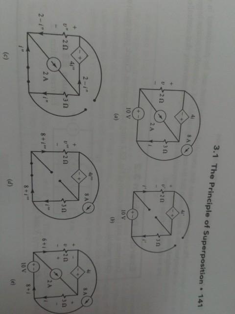 3.1 The Principle of Superposition 141 41 2 A 10 V 10 V 4i 8 A 2 -i 4i 32 2 A 2 A i 8+i 10 V
