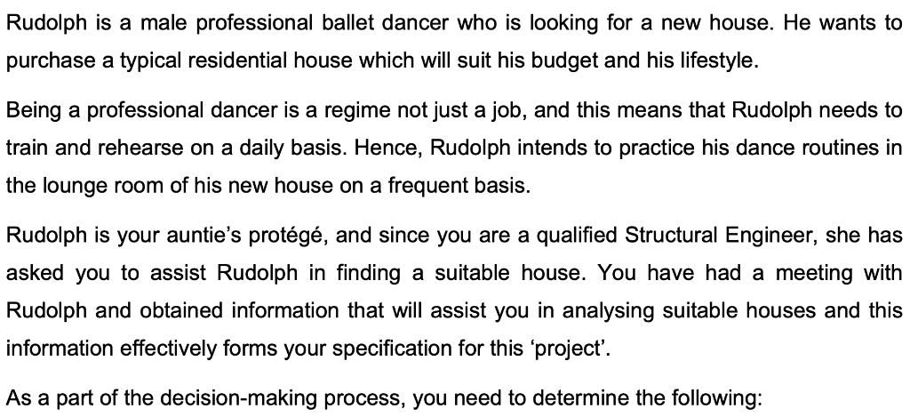 Solved Rudolph Is A Male Professional Ballet Dancer Who I