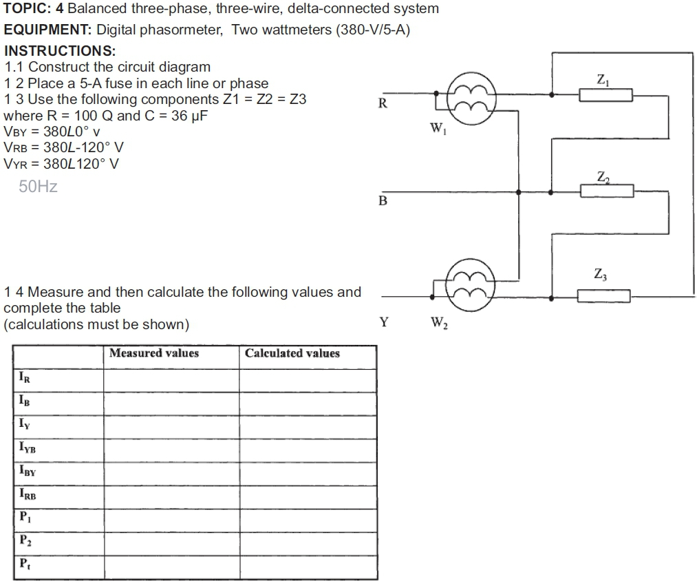 solved topic 4 balanced three phase, three wire, delta ctopic 4 balanced three phase, three wire, delta connected system