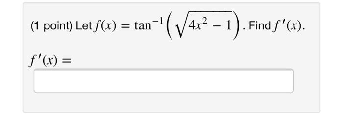 (1 point) Let fx)an-1/4r2 -1). Findf(r).