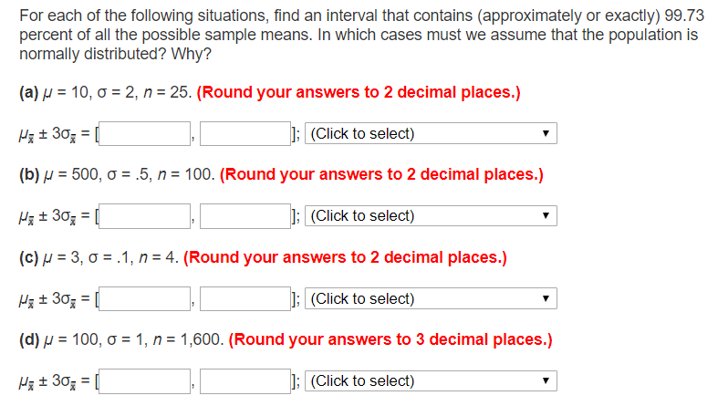 Solved: For Each Of The Following Situations, Find An Inte