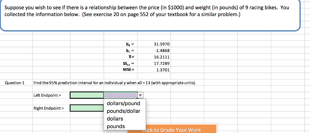 Question Suppose You Wish To See If There Is A Relationship Between The Price In 1000 And Weight Po