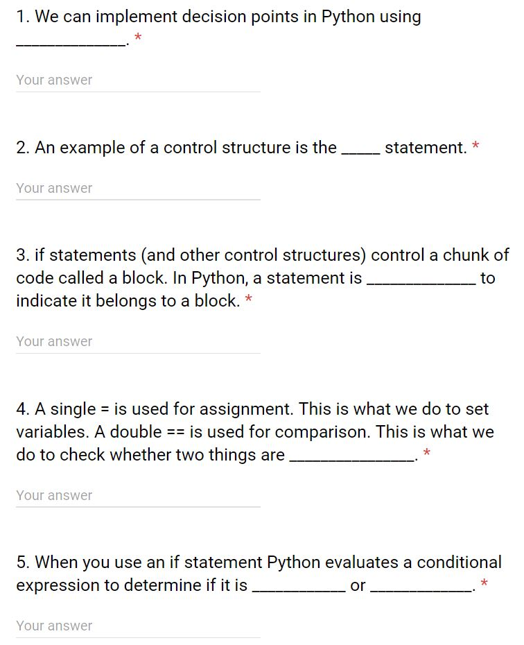 Solved: 1  We Can Implement Decision Points In Python Usin