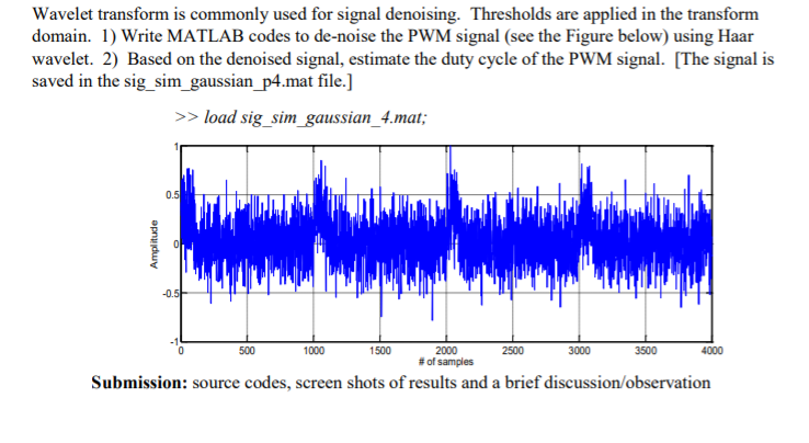 Wavelet Transform Is Commonly Used For Signal Deno    | Chegg com