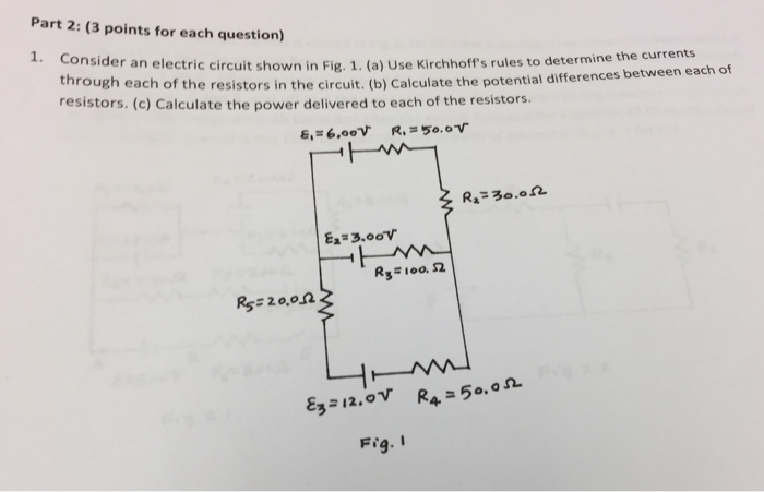 Solved: Consider An Electric Circuit Shown In Fig.1 (a) Us ...