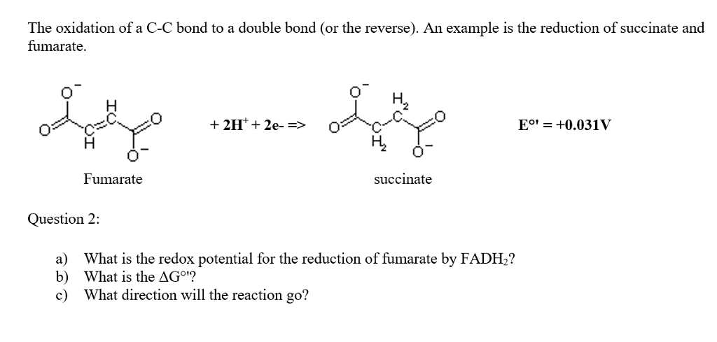 Solved The Oxidation Of A C C Bond To A Double Bond Or T