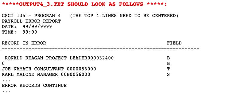 Hello! I Need Help Writing A COBOL Program! Instru      Chegg com