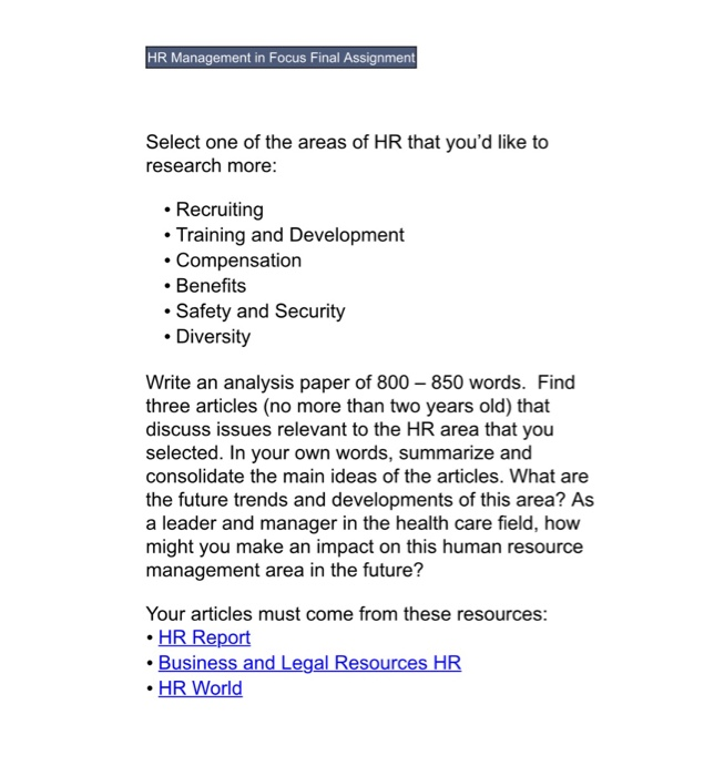 hr research articles