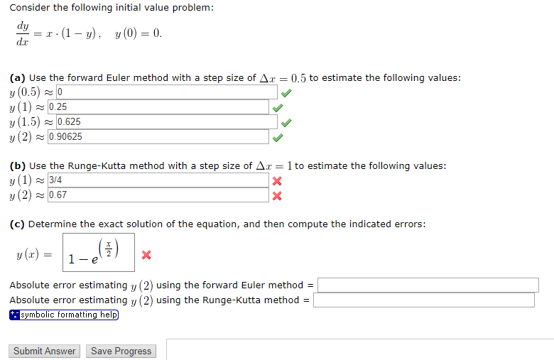 Solved: Consider The Following Initial Value Problem: Dt