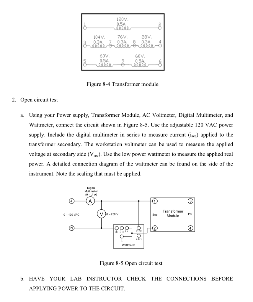 Solved Discussion A Real Transformer Has Several Inductiv Open Circuit Test And Short Assignment Help With Review Ques