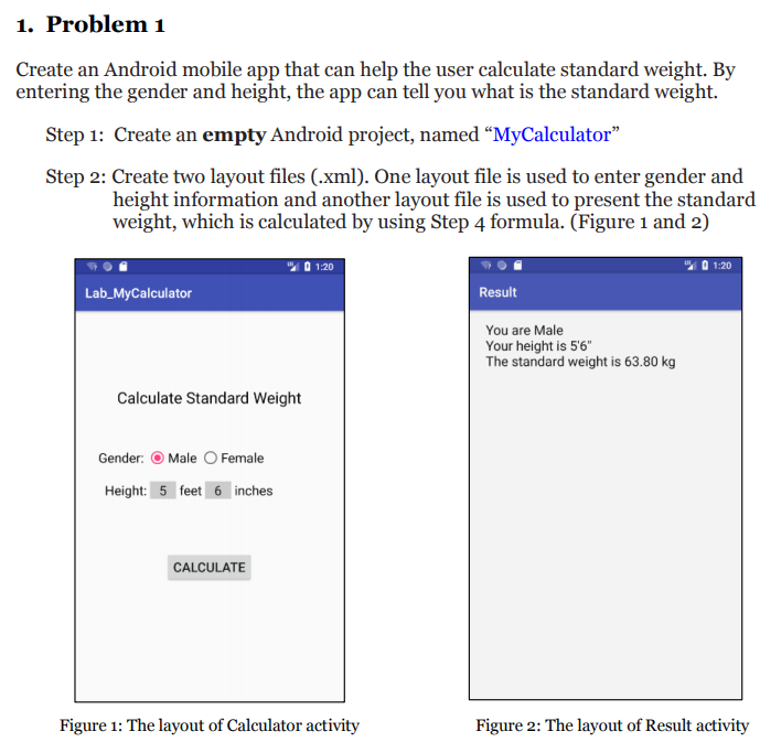 Solved: 1  Problem 1 Create An Android Mobile App That Can
