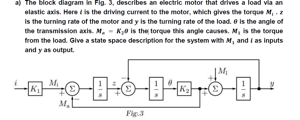 Solved A The Block Diagram In Fig 3 Describes An Elect