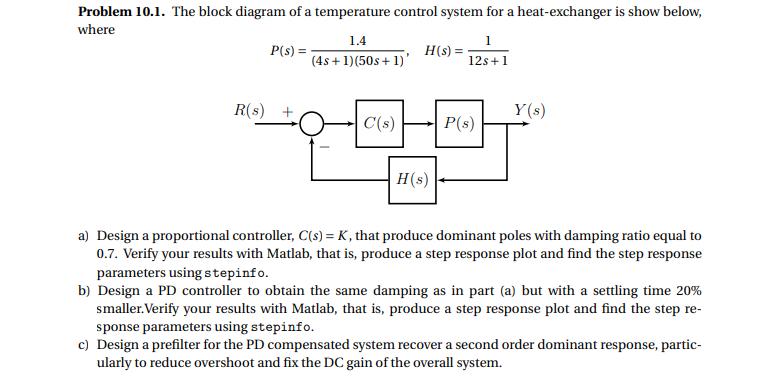 Problem 10.1. The Block Diagram Of A Temperature C...   Chegg.comChegg
