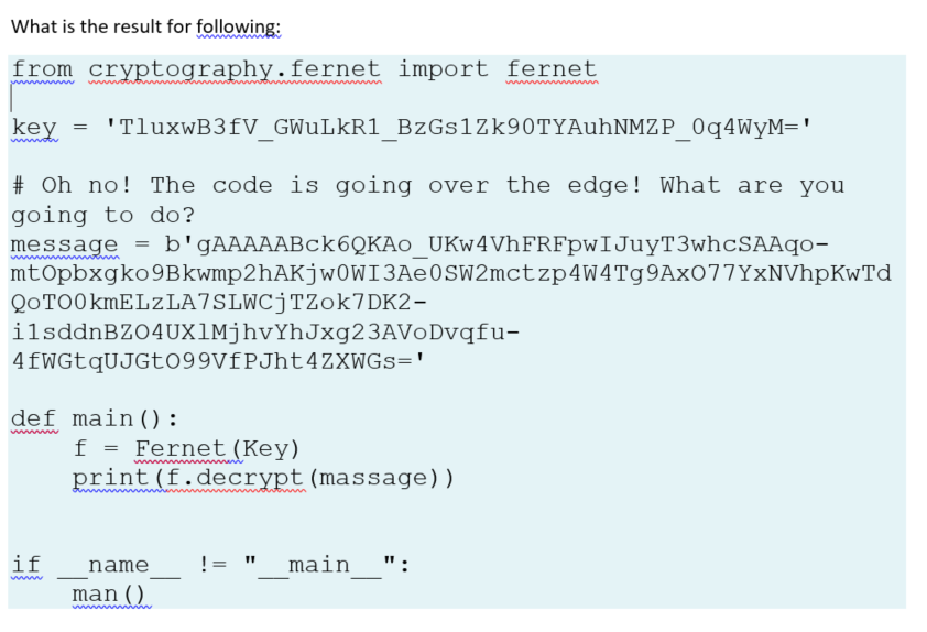 Solved: What Is The Result For Following: From Cryptograph