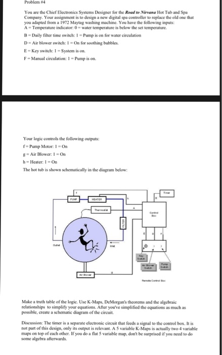 spa pump schematic problem 4 you are the chief electronics systems d chegg com  electronics systems