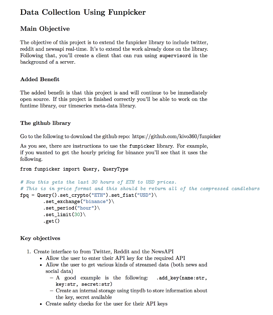 Data Collection Using Funpicker Main Objective The
