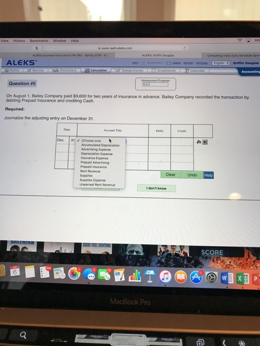 Solved Alexs Purchase Instructions Fin 360 Spring 2018 L