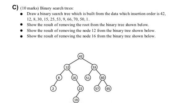Solved: B) (20 Marks) Binary Tree Traversals: Give The Pre