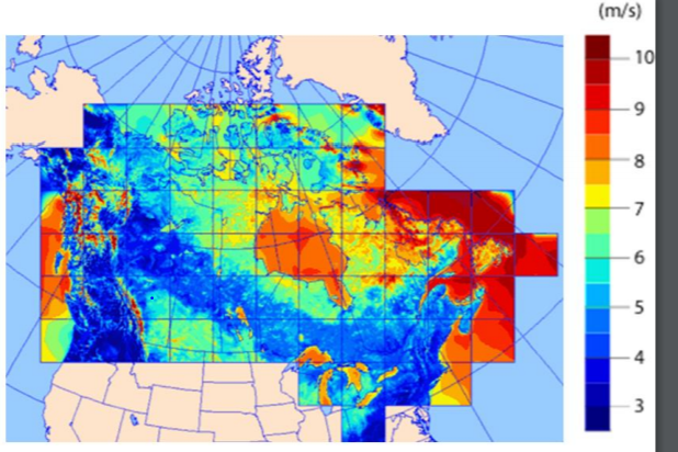 Wind Speed Map Canada Solved: A The Map Shows Canada's Average Wind Speeds (in M