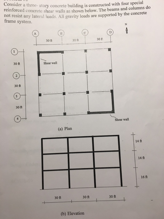 Design The Shear Walls (the Required Thickness And    | Chegg com