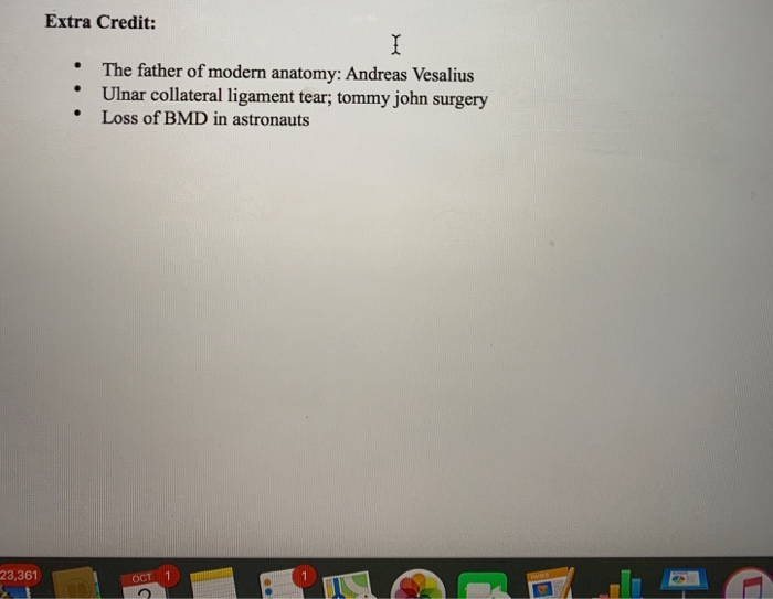 Solved Extra Credit The Father Of Modern Anatomy Andrea