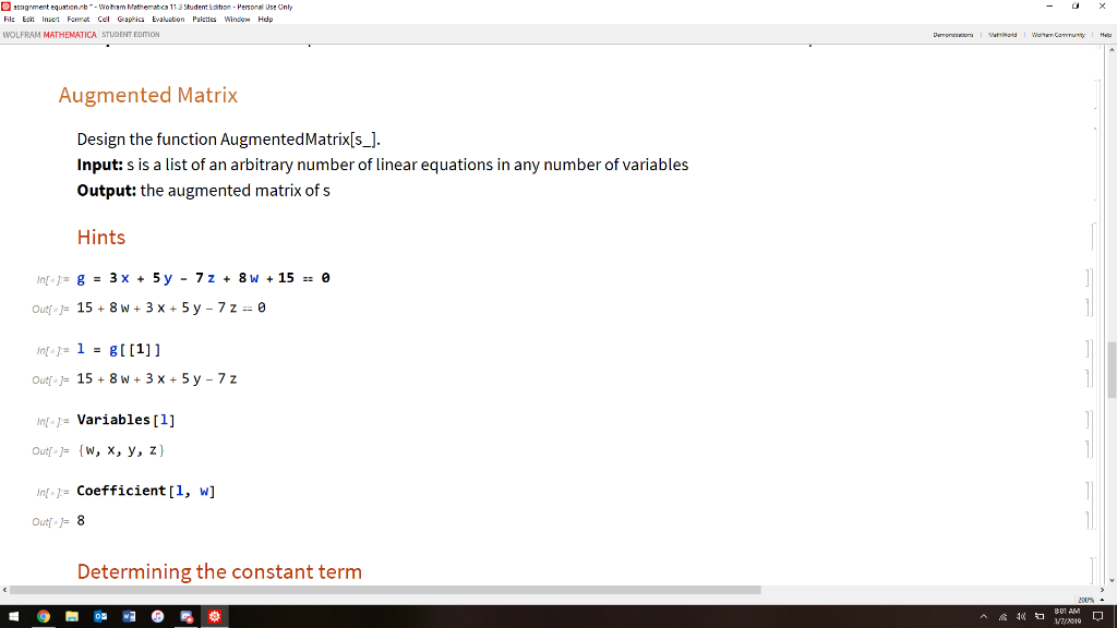 1  To Conveniently Apply Gaussian Elimination To S    | Chegg com