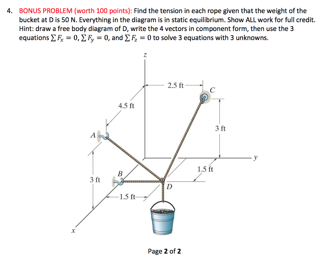 Solved Mechanical Engineering Question Free Body Diagram Form A And Solve See More