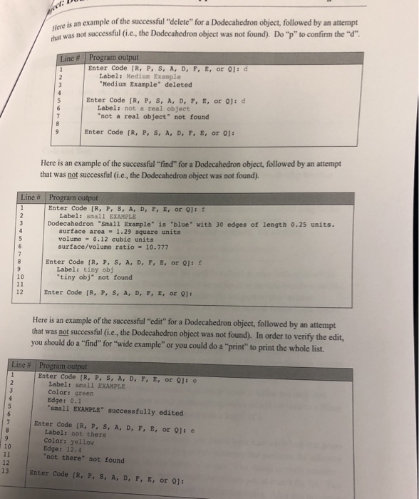 Solved: Requirements: Create A DodecahedronList Class That