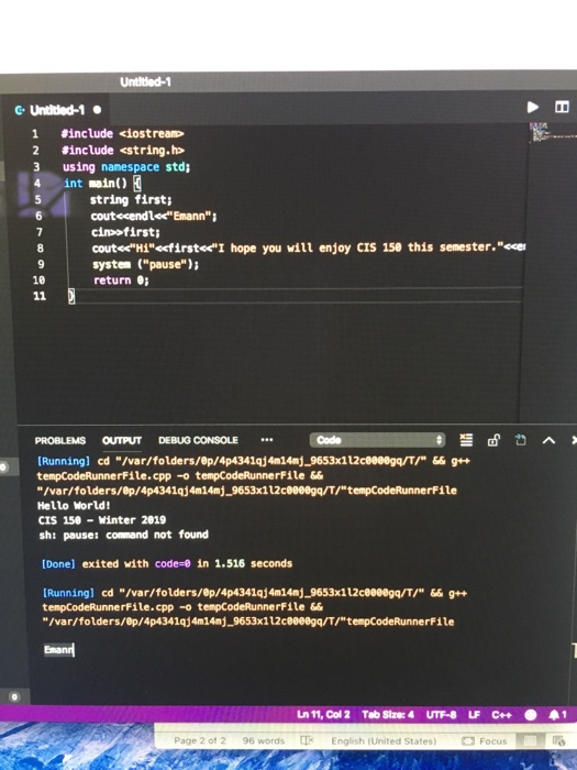 Solved: Hello Why Isn't My Code Working? I Am Coding C++ O