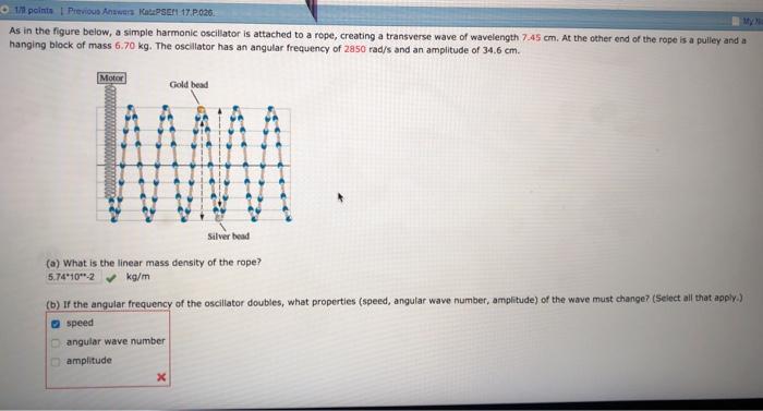 Solved: 1/9 Polnts I Previous Answers KatzPSErN 17 P 026 A
