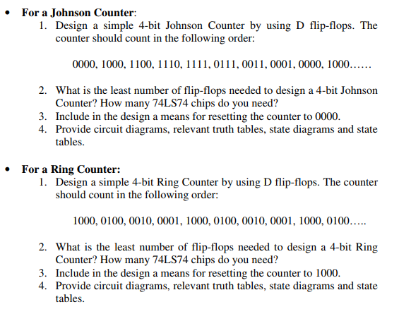 Solved for a johnson counter 1 design a simple 4 bit for a johnson counter 1 design a simple 4 bit johnson counter ccuart Image collections