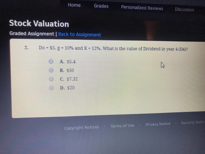 Solved: Home Grades Personalized Reviews Discussion Stock