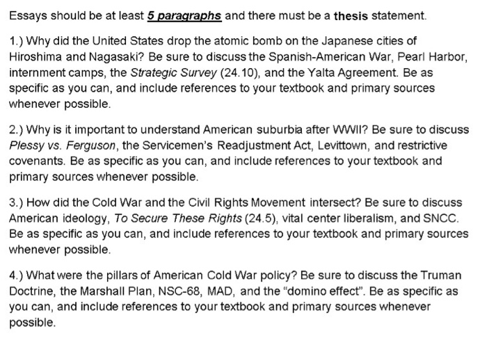 Essay on atomic bomb
