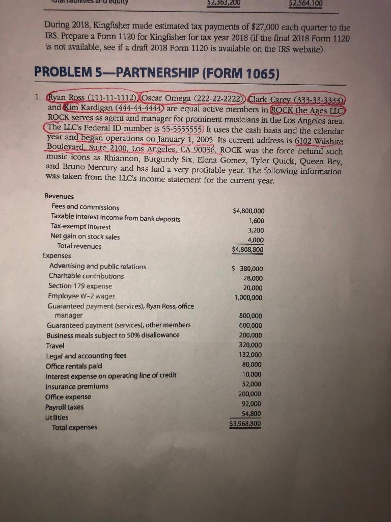 Utal Fiaunitues Drhd Equity $2,363,200 2,564,100 D