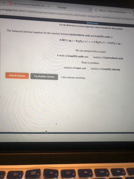 Solved: XC Get Homework Help With Che X Cengage  cengageno