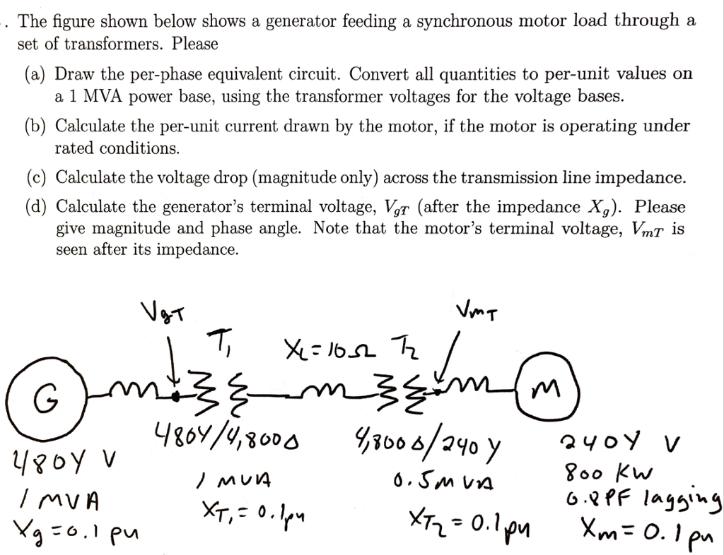 Solved: The Figure Shown Below Shows A Generator Feeding A