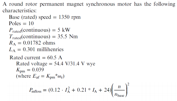 Solved: S Motor Has The Following A Ro Rotor PECNE Ma Char