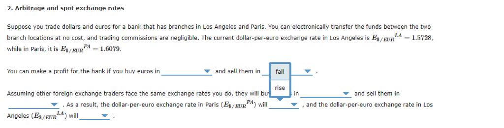 2 Arbitrage And Spot Exchange Rates